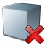Cube Grey Delete Icon 64x64