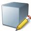 Cube Grey Edit Icon 64x64