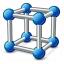 Cube Molecule Icon 64x64