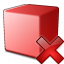 Cube Red Delete Icon 64x64