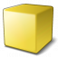 Cube Yellow Icon 64x64