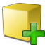 Cube Yellow Add Icon 64x64