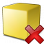 Cube Yellow Delete Icon 64x64