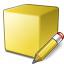 Cube Yellow Edit Icon 64x64