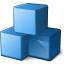 Cubes Blue Icon 64x64