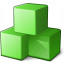 Cubes Green Icon 64x64