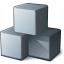 Cubes Grey Icon 64x64