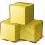 Cubes Yellow Icon 64x64