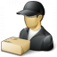 Delivery Man Parcel Icon 64x64