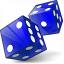 Dice Blue Icon 64x64