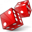 Dice Red Icon 64x64