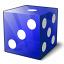 Die Blue Icon 64x64