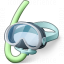Diving Mask Icon 64x64