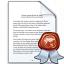Document Certificate Icon 64x64