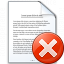 Document Error Icon 64x64