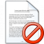 Document Forbidden Icon 64x64
