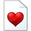 Document Heart Icon 64x64