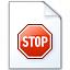 Document Stop Icon 64x64