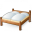 Double Wooden Bed Icon 64x64