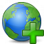 Earth Add Icon 64x64