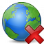 Earth Delete Icon 64x64
