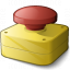 Emergency Stop Button Icon 64x64
