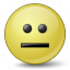 Emoticon Straight Face Icon 64x64