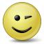 Emoticon Wink Icon 64x64