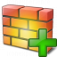 Firewall Add Icon 64x64