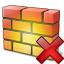 Firewall Delete Icon 64x64