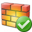 Firewall Ok Icon 64x64