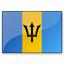 Flag Barbados Icon 64x64
