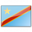 Flag Congo Democratic Republic Icon 64x64