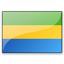Flag Gabon Icon 64x64