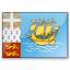 Flag Saint Pierre And Miquelon Icon 64x64