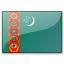 Flag Turkmenistan Icon 64x64