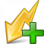 Flash Yellow Add Icon 64x64