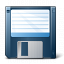 Floppy Disk Blue Icon 64x64