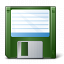 Floppy Disk Green Icon 64x64