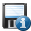 Floppy Disk Information Icon 64x64