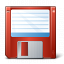 Floppy Disk Red Icon 64x64