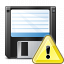Floppy Disk Warning Icon 64x64