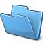 Folder Blue Icon 64x64
