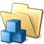 Folder Cubes Icon 64x64