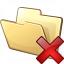 Folder Delete Icon 64x64