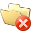 Folder Error Icon 64x64