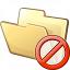 Folder Forbidden Icon 64x64