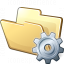 Folder Gear Icon 64x64