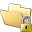 Folder Lock Icon 64x64