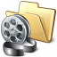 Folder Movie Icon 64x64